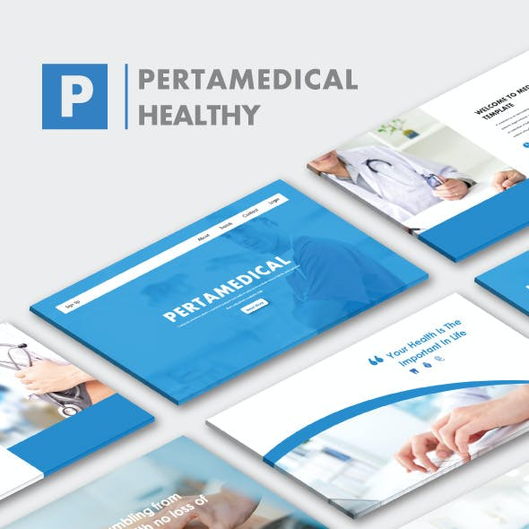 Pertamedical Health & Doctor Medical Powerpoint Template
