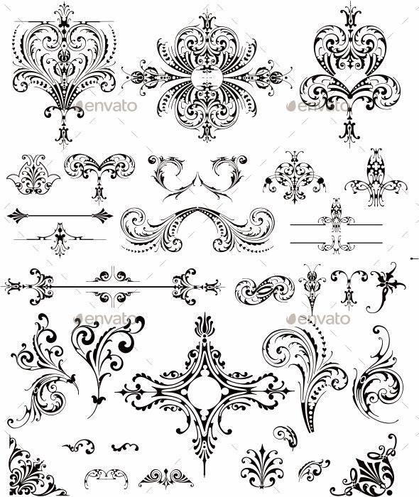Floral - Flourishes / Swirls Decorative