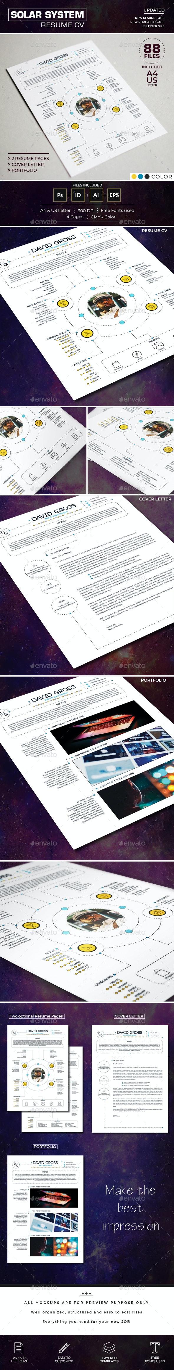 Resume/CV - Solar System - Resumes Stationery