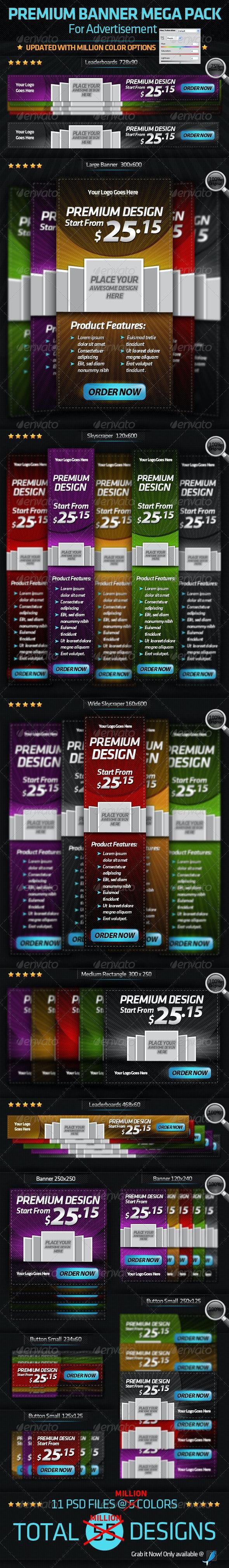 Premium Banner-Mega Pack-For Online Advertisement - Banners & Ads Web Elements