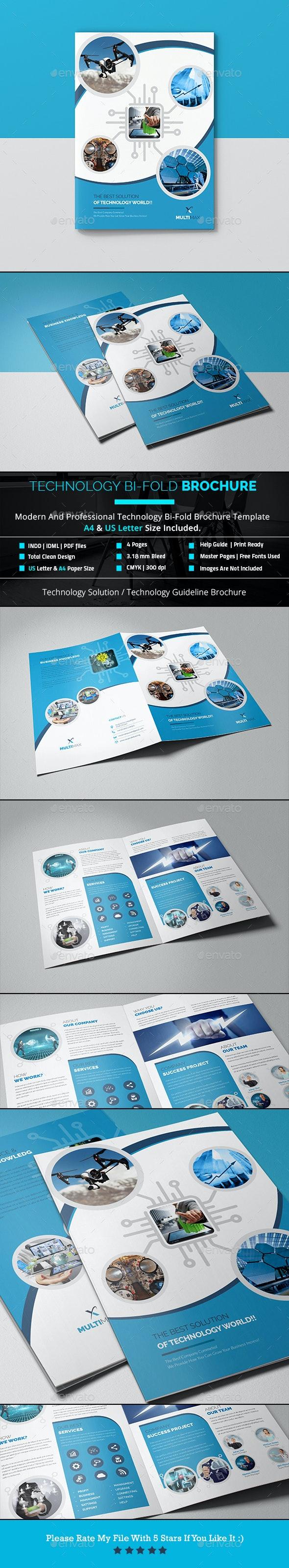 Technology Bi-Fold Brochure - Brochures Print Templates