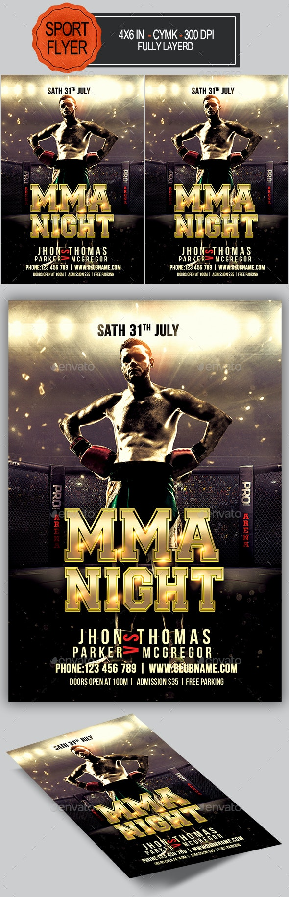 MMA Night Flyer - Sports Events