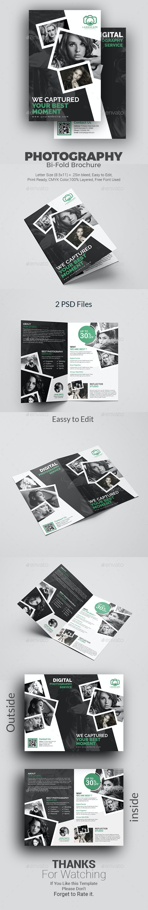 Photography Bi-Fold Brochure - Corporate Brochures