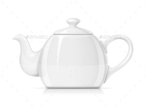 Ceramic Teapot - Man-made Objects Objects