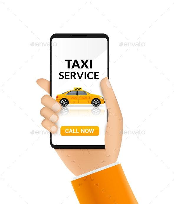 Taxi Service App Design - Services Commercial / Shopping