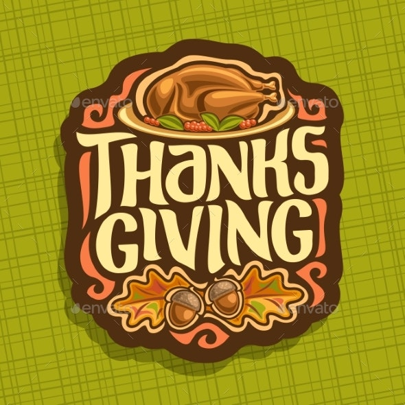 Vector Logo for Thanksgiving - Food Objects