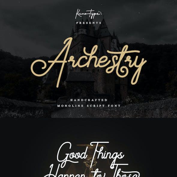 Archestry - Monoline Script Font