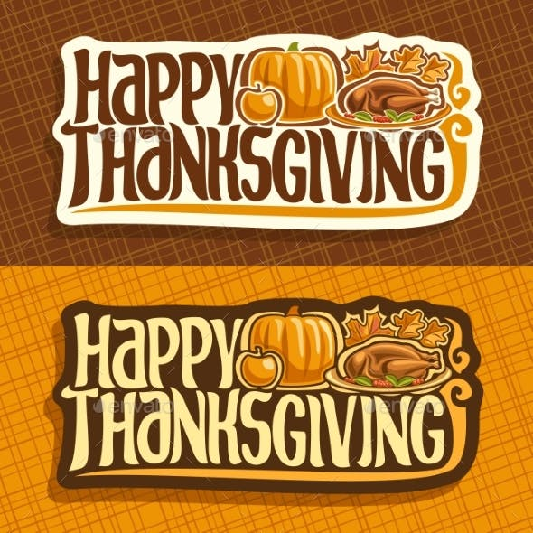 Vector Banners for Thanksgiving