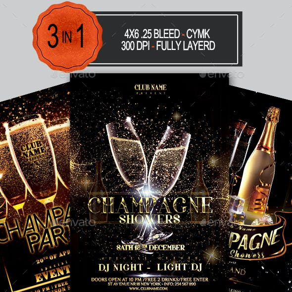 Champagne Party Flyer Bundle