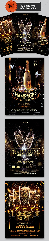 Champagne Party Flyer Bundle - Clubs & Parties Events