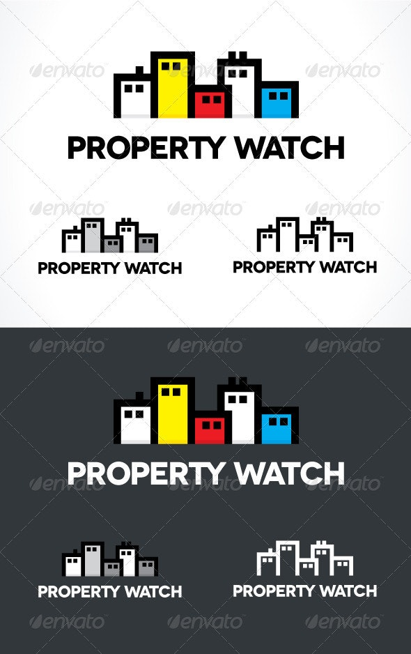 Property Watch Logo - Buildings Logo Templates