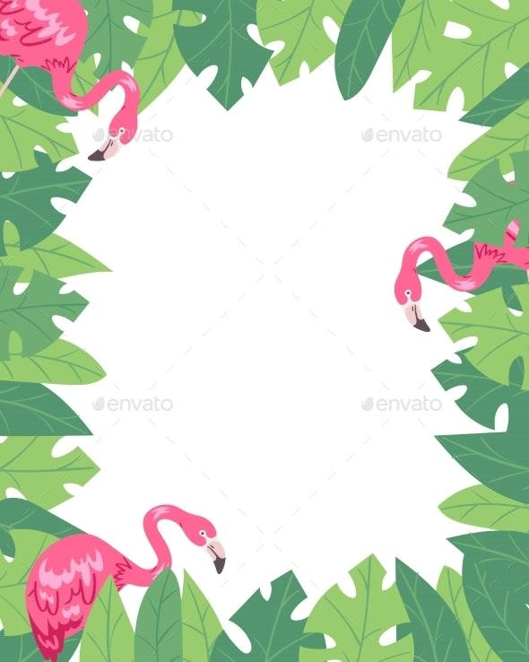 Flamingo Vertical Banner - Animals Characters