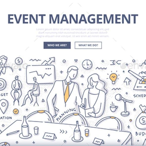 Event Management Doodle Concept