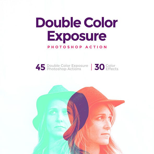 Double Color Exposure Photoshop Action