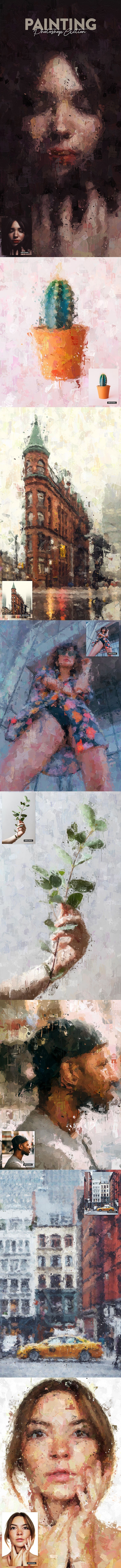 Painting Photoshop Action - Photo Effects Actions