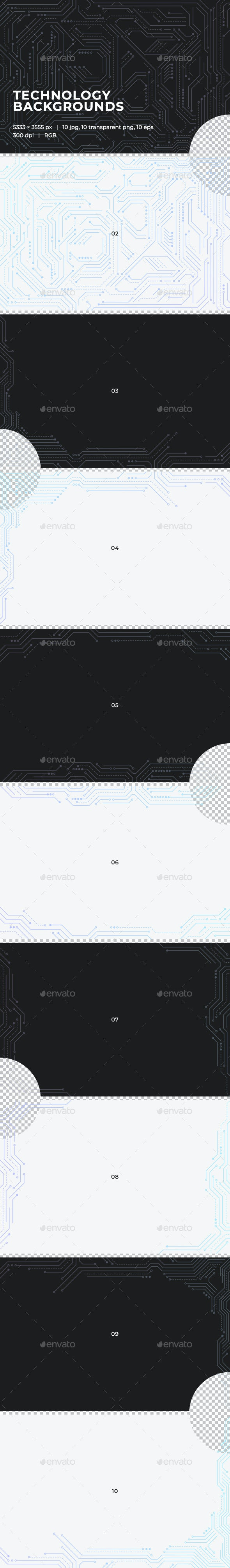 Technology Backgrounds - Tech / Futuristic Backgrounds
