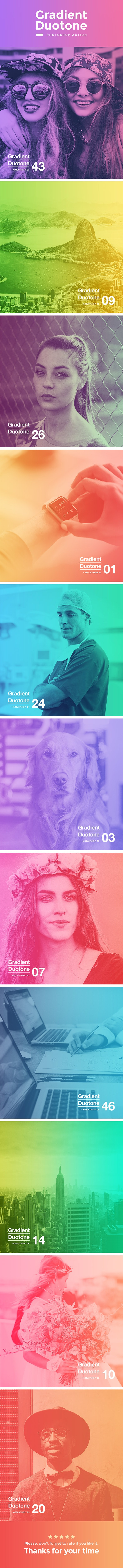 Gradient Duotone Photoshop Action - Photo Effects Actions