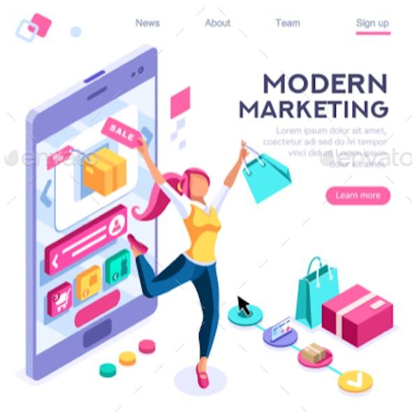Graphic Consumerism Concept