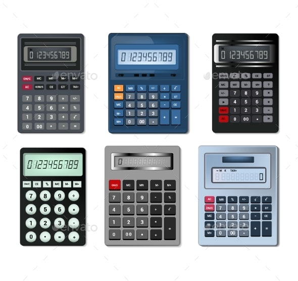 Calculator Vector Business Accounting Calculation - Computers Technology