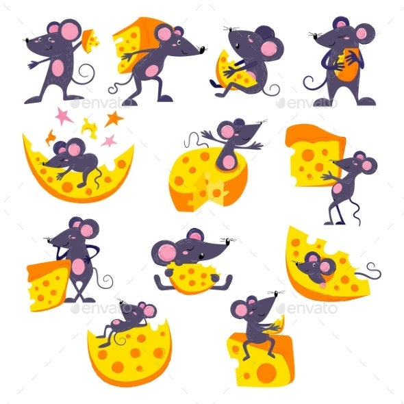 Cartoon Mouse Vector Mousy Animal Character Rodent - Animals Characters
