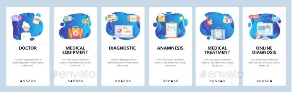 Website and Mobile App Onboarding Screens Vector - Health/Medicine Conceptual