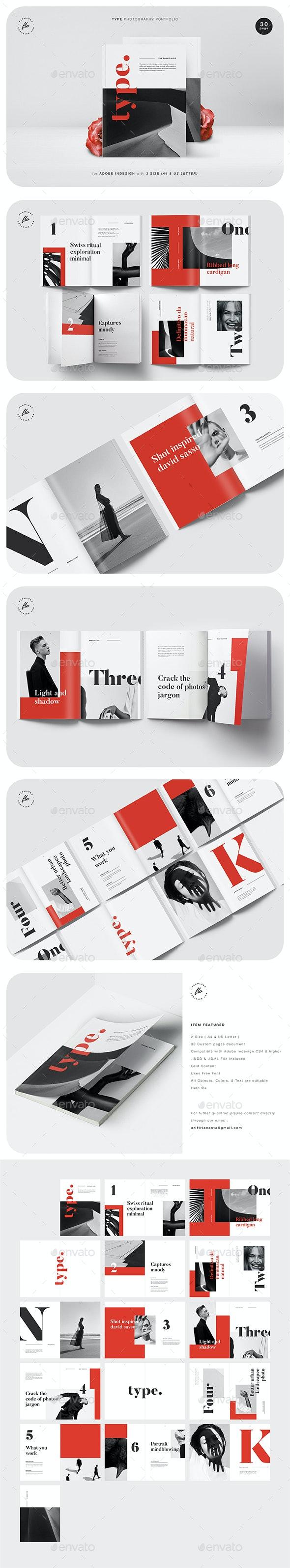Type Photography Portfolio - Magazines Print Templates