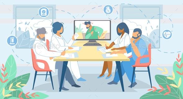 Distant Online Medicine Consultation - Health/Medicine Conceptual
