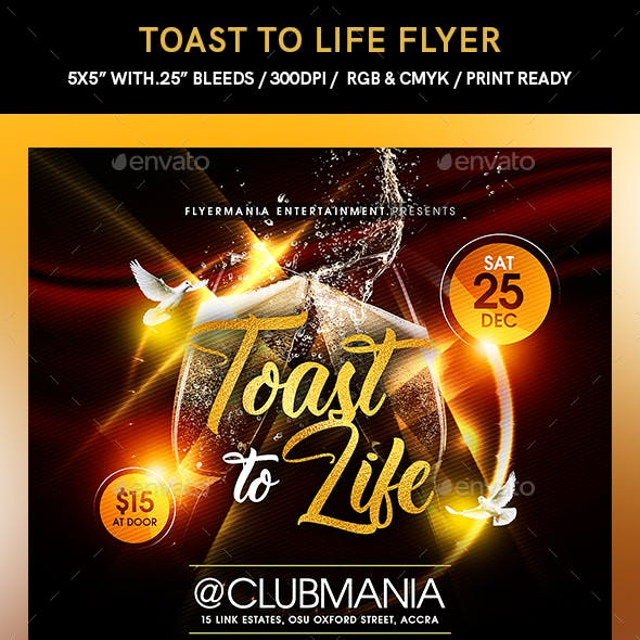 Toast to Life Flyer