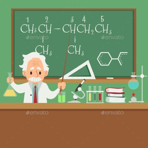 Professor or Scientist Teaching in College - People Characters