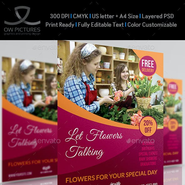 Flower Shop Flyer Template Vol.2