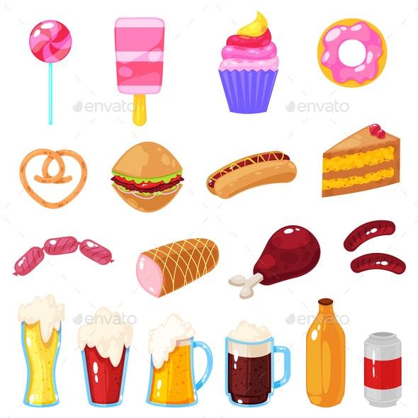 Set of Fast Food - Miscellaneous Vectors