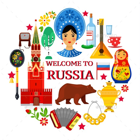 Russian Background - Animals Characters