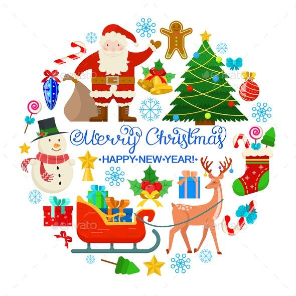 Colorful Christmas Card - Christmas Seasons/Holidays