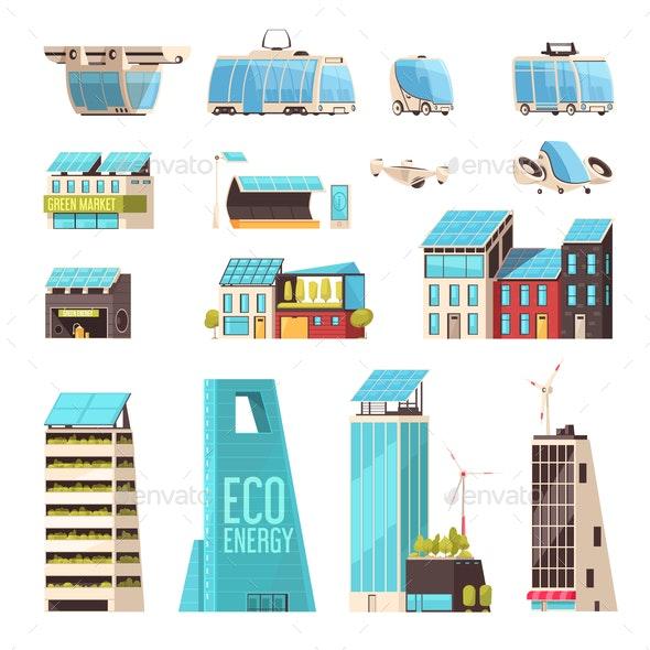Smart City Technology Set - Buildings Objects