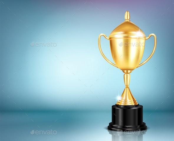 Realistic Trophy Award Composition - Miscellaneous Vectors