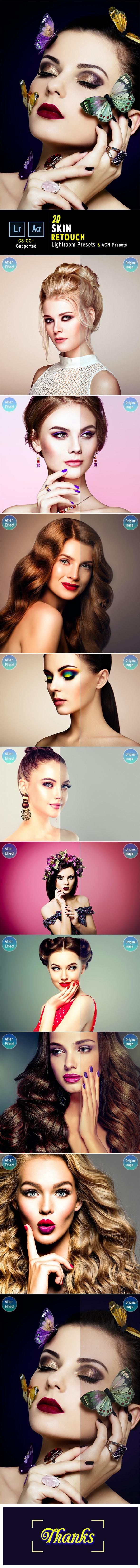 20 Skin Retouch Lightroom Presets & ACR Presets - Lightroom Presets Add-ons