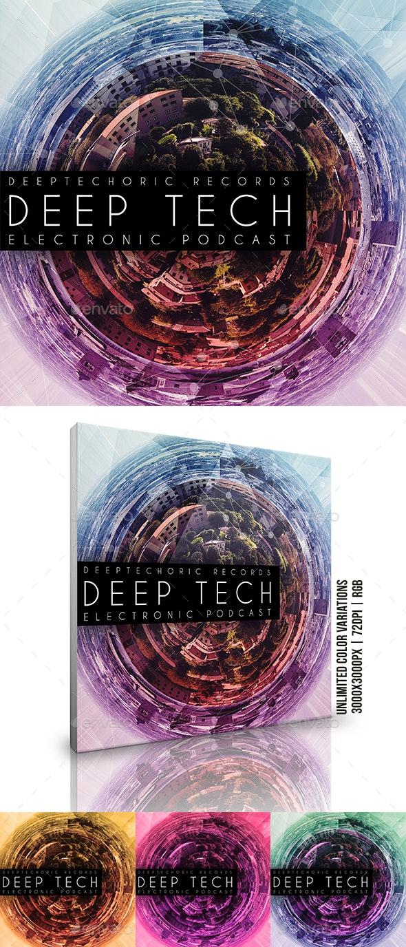 Deep Tech Music Album Cover Artwork Template - Miscellaneous Social Media
