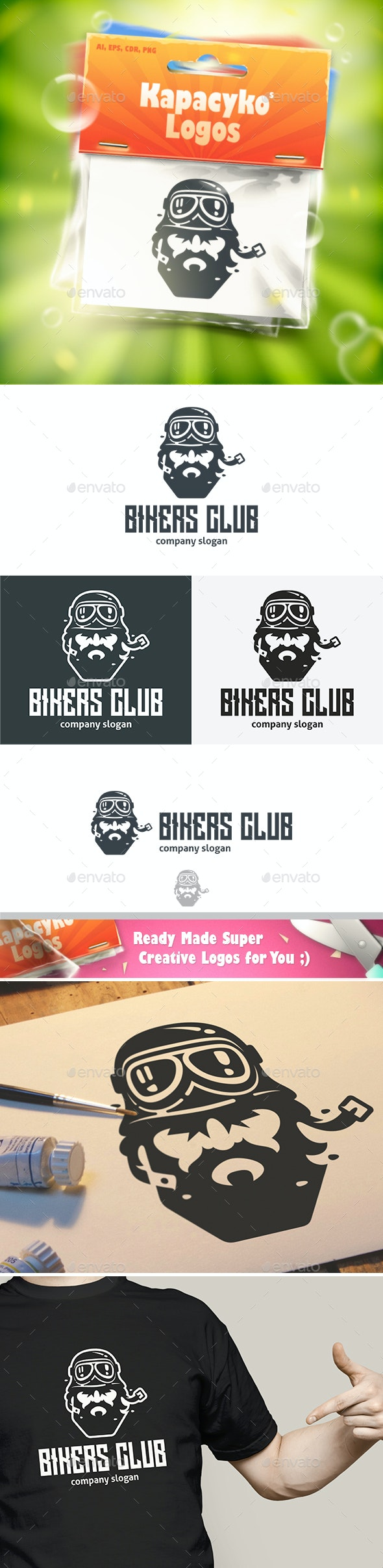Bikers Club Logo - Humans Logo Templates