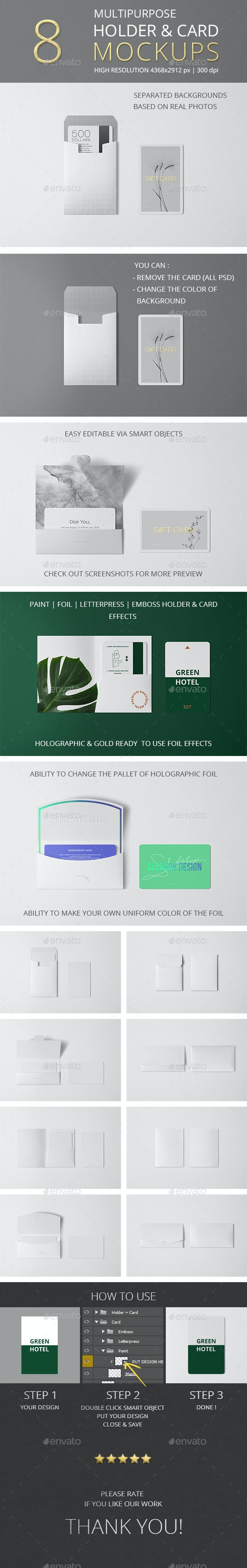 Multipurpose Holder & Card Mockup Vol 8.0 - Miscellaneous Print