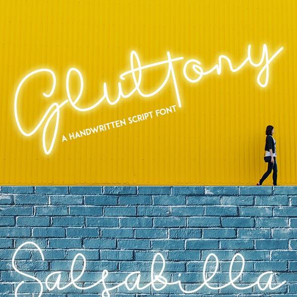 Gluttony - Handwritten Font