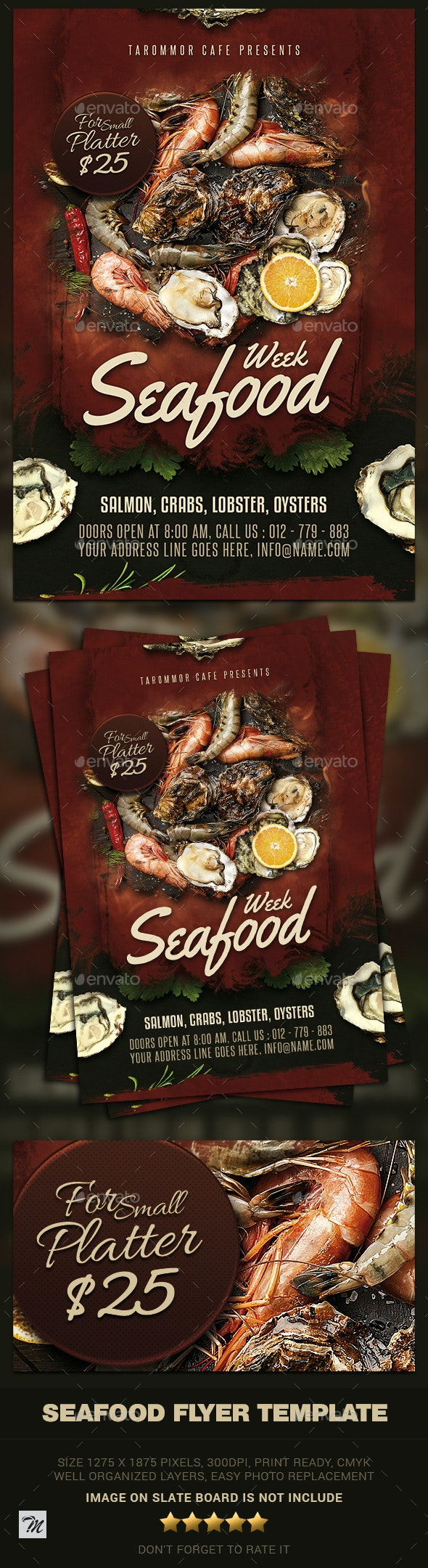 Seafood Flyer Template - Restaurant Flyers