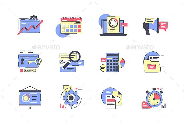 Flat Business Icon Set - Concepts Business