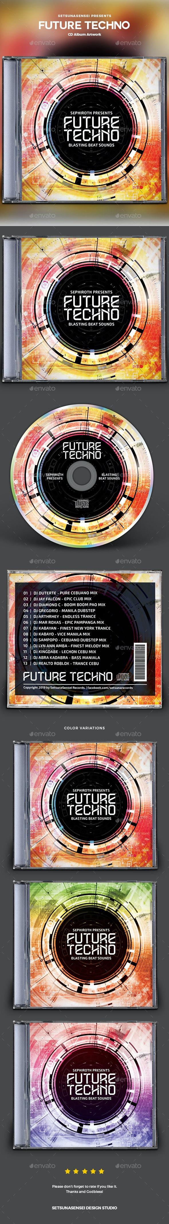 Future Techno CD Album Artwork - CD & DVD Artwork Print Templates