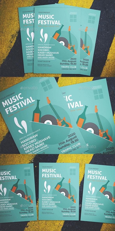 Music Fest Flyer - Flyers Print Templates