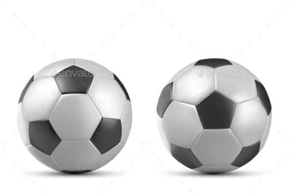 Football Soccer Ball Isolated on White Background - Man-made Objects Objects