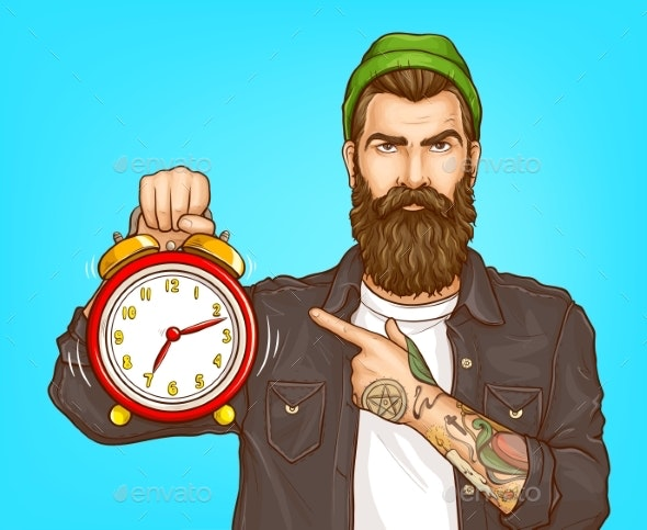 Hurrying Make in Time Cartoon Vector Concept - People Characters