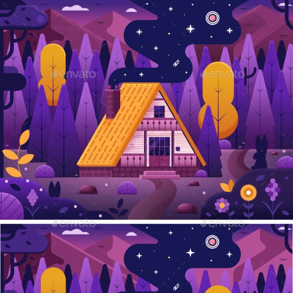 Forest Chalet House by Magic Night