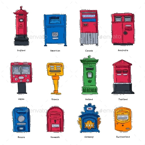 Mail Box Vector Post Mailbox or Postal Letterbox - Miscellaneous Vectors
