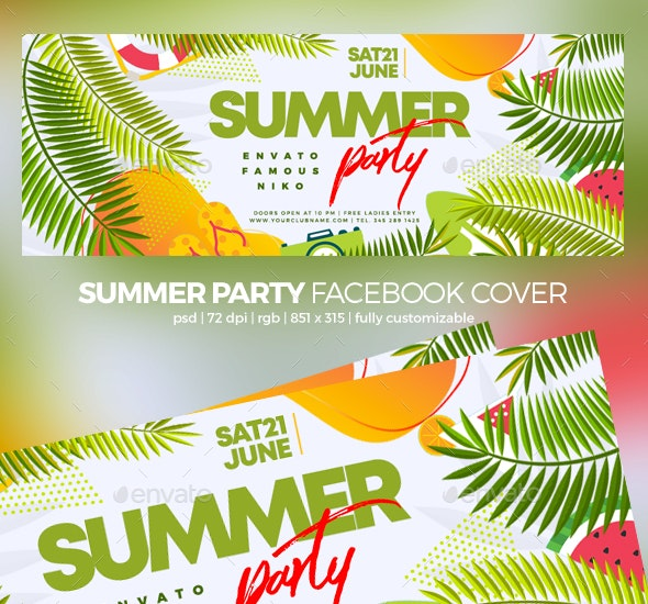 Summer Party Facebook Cover - Facebook Timeline Covers Social Media