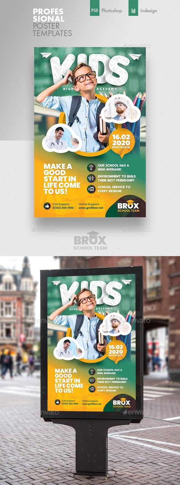 Kids School Poster Templates - Signage Print Templates